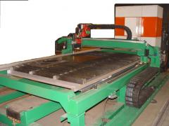 Plasma cutting machine of sheet metall