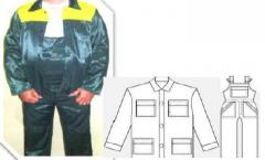 Suit working model M4: jacket and semi-overalls