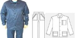 Suit working (special clothes) smooth surface,