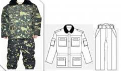 Suit protection winter, camouflage
