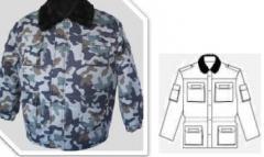 Protection jacket winter, pea jacket camouflage
