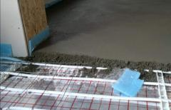 Concrete for a heat-insulated floor
