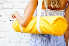 Желтая сумка «Foyo» для йога-коврика