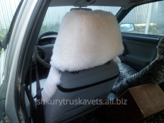 Automobile cover, from a head restraint, a