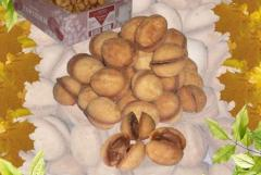 Cookies Nutlets with boiled condensed milk