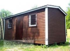 Вагончик из блок-хауса, деревянный домик