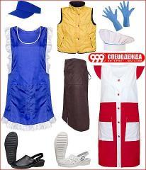 Одежда и обувь для работников сферы услуг и