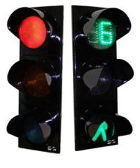 The traffic light is transpor