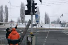 The traffic light is pedestrian