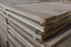 Parquet preparation from an oak, preparations from