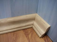 The plinth is oak, finishing materials.