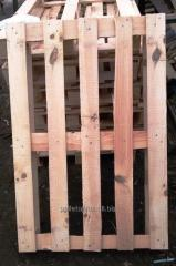 Поддон деревяный одноразовый  1200 х 800 х 132 мм