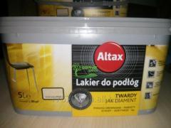 Cтойкий лак для паркета Altax в цветах