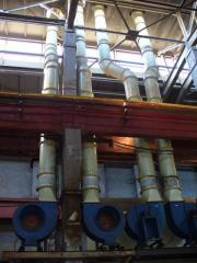 Ventilation of galvanic shop