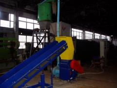 The equipment for processing of waste in energy