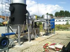 The equipment for processing of silt rainfall in