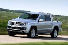 Glass left front lowering green 2/4T VW Amarok