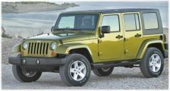Glass left front lowering green 3/5T Jeeps