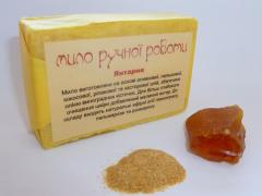 Amber soap srub