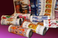 Packaging for ice cream, flexible rolled packaging