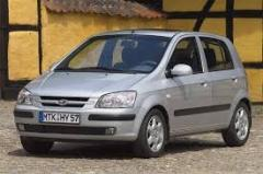 Glass right back fort.dverny green 5T Hyundai Getz