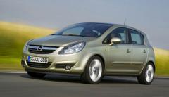 Glass right back fort.dverny green 5T Opel Corsa D