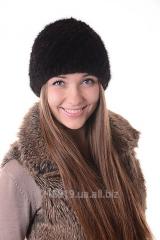 Женская шапка Норка-вязка
