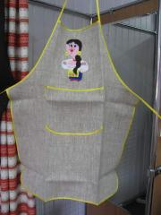 The apron embroidered, kitchen