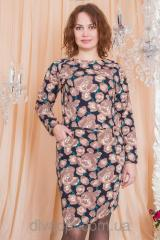 Dress of the big size with a flower print Model