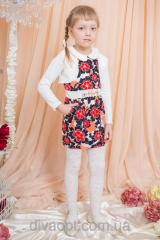 Coral dress for the girl Model 308-2