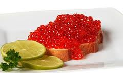 Caviar, caviar red, caviar of a lososev, caviar of