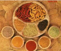 Spices from the countries of Europe and Asia