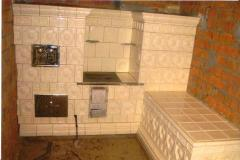 Furnace tiled (tile). Tiles ceramic for finishing