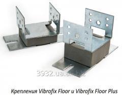 Крепления Vibrofix Floor для звукоизоляции деревянного пола на лагах