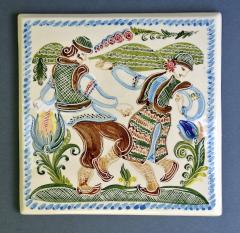 Tile ceramic for finishing of fireplaces,