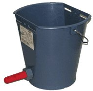 Bucket for a vypoyka of calfs with a pacifier