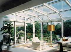 Winter gardens with use of the aluminum shape