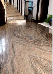 Floors from a natural stone - marble and granite.
