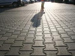 Sidewalk stone blocks Brush