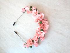 Wreath - a rim from roses from a foamiran of