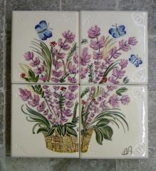 Tiles (kakhel) ceramic for finishing of