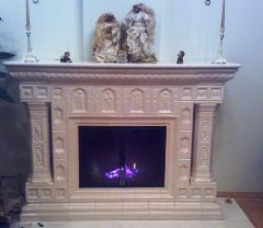 Fireplace from a tile (tiles from the producer)