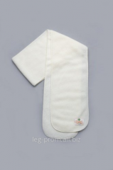 Children's fleece scarf of milk color
