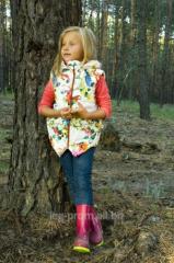 Vest for the girl demi-season