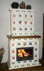 Tiles ceramic for finishing of fireplaces,