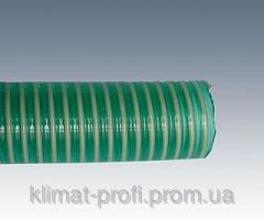 The hose from PVC of 75 mm reinforced by