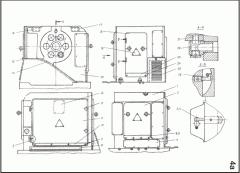 Transmission of the machine shestishpindelny