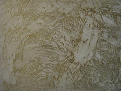 Mineral plaster.