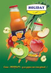 Juice fruit and fruit and vegetable in assortment