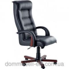 Кресло для руководителя Роял Люкс орех Кожа Сплит